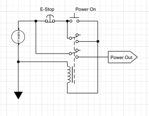 an emergency stop circuit with emc2 mad penguin labs rh vdwalle com emergency stop circuit diagram e-stop circuit diagram